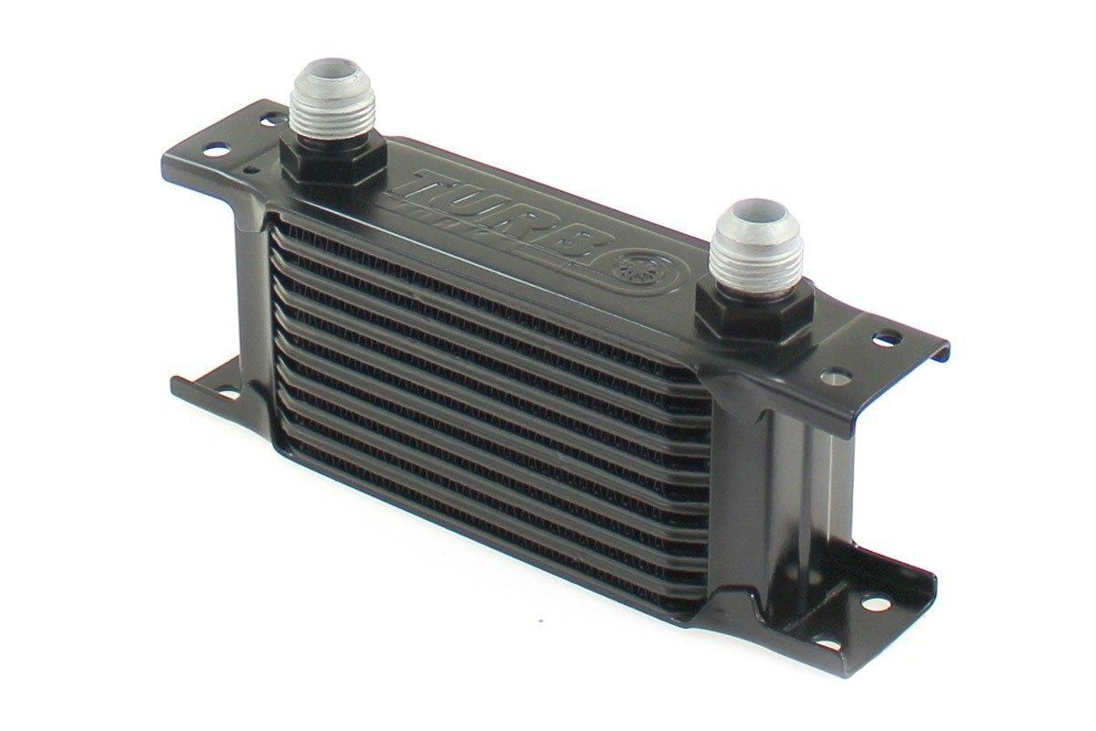 Chłodnica Oleju TurboWorks Slim Line 10-rzędowa 140x75x50 AN10 black - GRUBYGARAGE - Sklep Tuningowy